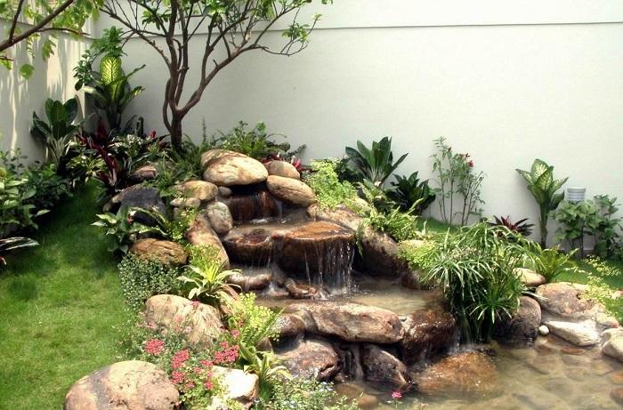 trang trí sân vườn
