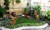 Tiểu cảnh đá đẹp cho sân vườn với thiết bị đài phun nghệ thuật